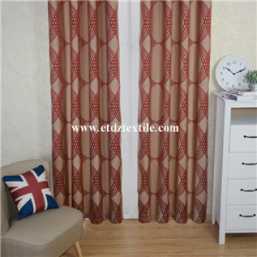 Traditional Red Color Shrinkage Yarn Curtain Fabric