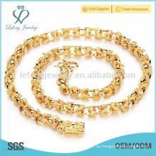 Collares de la cadena cubana del oro fornido, joyería del oro del chapado en oro 18k del cobre