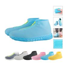 Couvre-chaussures à glissière imperméables en silicone réutilisables