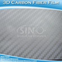 Yüksek polimer gümüş 3D araba Film vinil Karbon Fiber Satılık