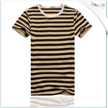 OEM Verão Men Cotton Short Blusa Sexy Men Tees Slim Men T-Shirt