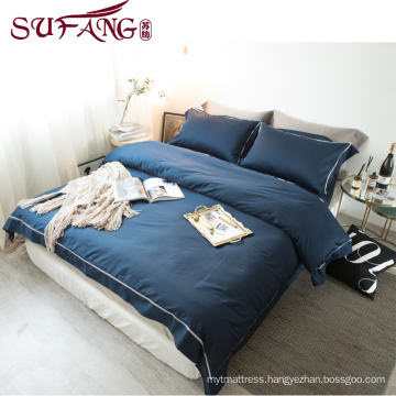 High Quality Hotel Bedding Linen Supplier 100% Cotton Plain White Bed Sheets Set frame embroidery bedding sets with embroidery