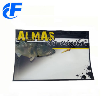 Customized Printed Soft Plastic Fishing Lures Packaging Bags