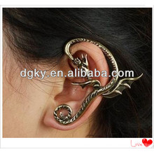 Factory vintage punk dragon ear cuff wrap clip earring