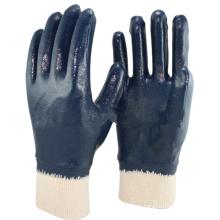 NMSAFETY blaues Nitrilöl industrielles Nitril mit vollem Nitirle-Kinit-Handschuh