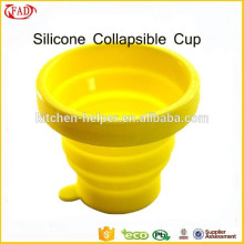 Popular Travel Equipment Food Grade Silicone Collapsible Cup