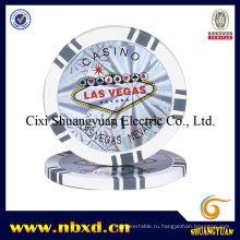 14G 2-тональный 5-точечный глиняный покерный чип с пользовательскими наклейками (SY-E10)