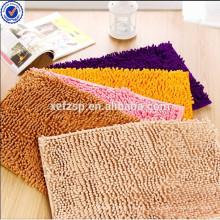 Washable chenille entrance floor tiles rug mat carpet factory