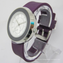 Reloj de regalo de silicona de cuarzo resistente al agua