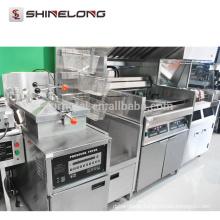 Kommerzielles Schnellimbiß / KFC elektrische Gas-Huhn-Chip-Fritteuse-Maschine Guter Preis