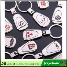 Emblème de voiture en métal de forme de trapèze de mode Keychain