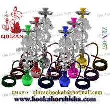 Double Pipes grand narguilé avec Vase de couleur simple