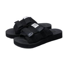 cheap 2021 new design antislip fashion mesh upper black color eva  custom slippers