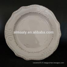 tranchant de plaque en relief blanc en gros