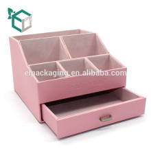 Benutzerdefinierte rosa starren Samt Karton Display-Box