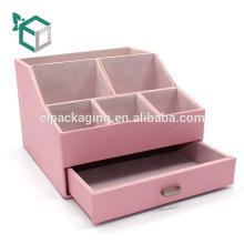 Custom pink rigid velvet cardboard display box