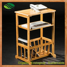 Bamboo Newspaper/Magazine Rack for Floor Stands (EB-B4100)