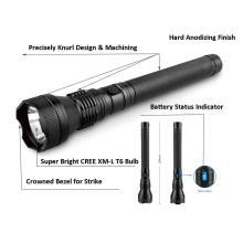 poderosa lanterna recarregável com indicador de bateria