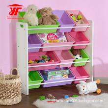 Kids Toy Wooden Storage with 12 Bins