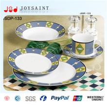 Placas de jantar maioria descartáveis por atacado do OEM da porcelana feita sob encomenda