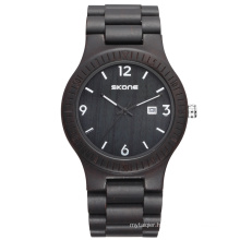 Custom logo promotional fashion luxury cheap wooden watch