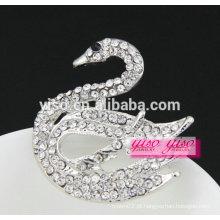 Mais novo design moda broche de cristal de ganso