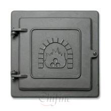 Puerta de estufa de hierro fundido a medida