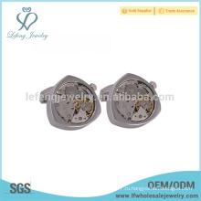 Антикварные серебряные запонки, дизайнерские серебряные застежки-часы cufflinks