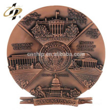 Free sample bulk custom name metal art engraved building souvenir government invitation letter candle plate