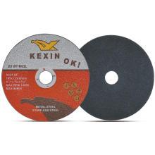 Abrasivos planos de 4 polegadas que cortam discos para metal