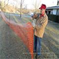 Cerca de neve de plástico laranja para proteção