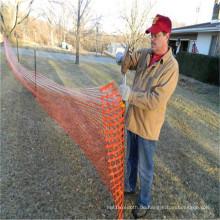Orange Plastikschnee-Zaun für Schutz
