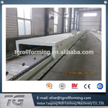 High efficiency stone-coated roll forming machine , production line for stone coated tiles