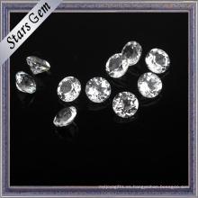 Crystal Clear White Natual redondo brillante topacio piedras preciosas