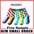 Fashion Contrast Color Diamond Lattice Socks