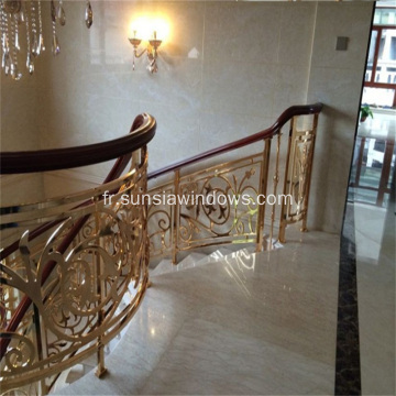 Main courante en aluminium et balustrade