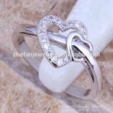 Zhefan pure amour bijoux, véritable bague en argent sterling 925, bijoux en gros en argent