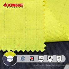 tissu jaune modacrylique / coton antistatique