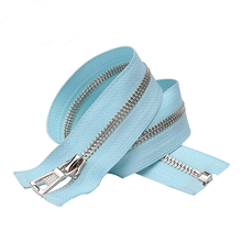 Light Blue Tape Stainless Steel Metal Separating Zipper