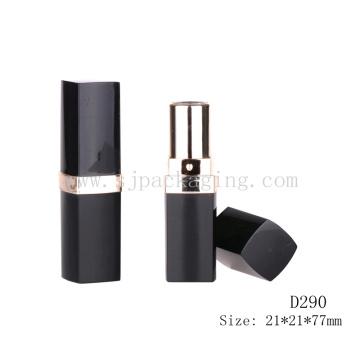 D290 Square schwarz mit UV leeren Lippenbalsam Container Großhandel
