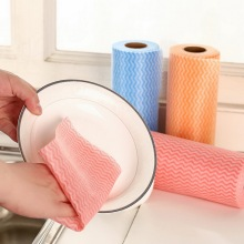 60%Viscose+40%Polyester, Nonwoven Spunlace Cloth Roll