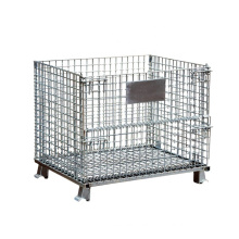 Security Steel Storage Welded Wire Mesh Cage, Galvanized Foldable Collapsible Metal, Folding Storage Cage/