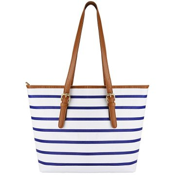 Ladies PU Leather Stripes Sac à bandoulière Womens Handbags