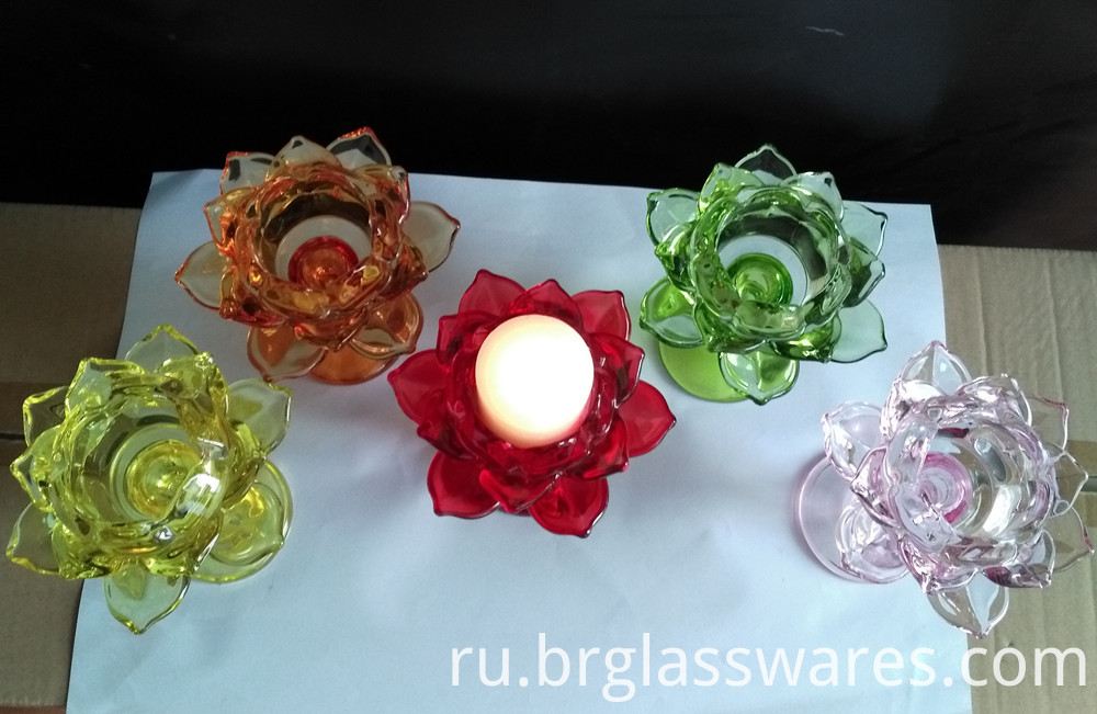 glass candle holder 10