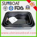Enamel Rectangular Baking Tray Set