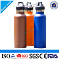 O logotipo certificado do fornecedor personalizou a garrafa de água de aço relativa à promoção de aço dos esportes