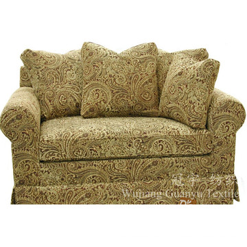 Jacquard Leather Polyester Suede Fabric with Backing for Sofa