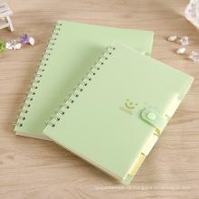 PVC-gewundenes Notizbuch-Briefpapier Kundenspezifisches Notizbuch-Drucken