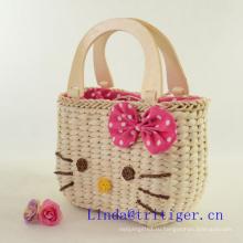 Горячая распродажа девушка кошелек сумка солома плетение