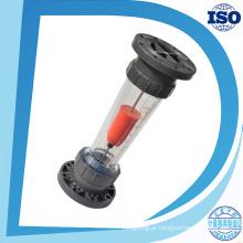 Rosca Bsp Soquete-End Flange Tubo Longo Shorttube Fluxo De Plástico Sensor de Fluxo De Tubo Transparente Medidor De Fluxo De Plástico